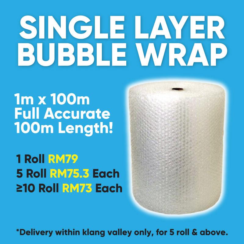 Single Layer Bubble Wrap