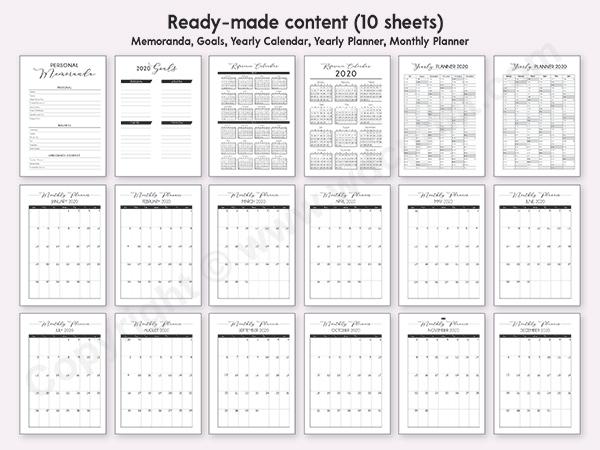 Metallic Personalised Planner Notebook
