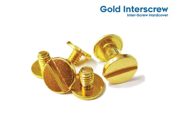 Inter-Screw Hardcover (Screw Outside) Gold Interscrew