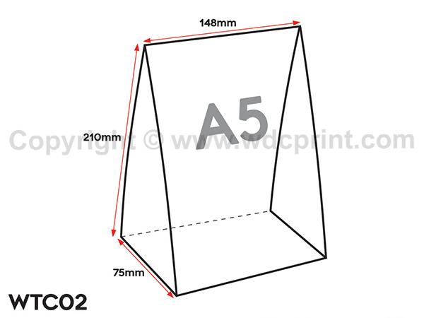 Digital Table Tent Card Print - WTC02 Illustration