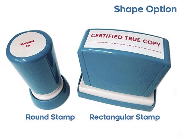 Pre-inked Stamp (Xstamper Quix) - Shape stamp Option