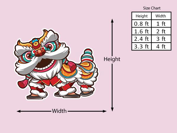 Lion Dance Costume Pose